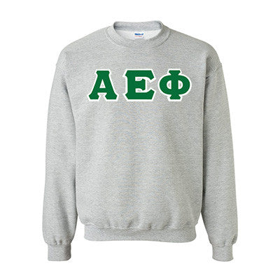 Alpha Epsilon Phi Standards Crewneck Sweatshirt - Gildan 18000 - TWILL