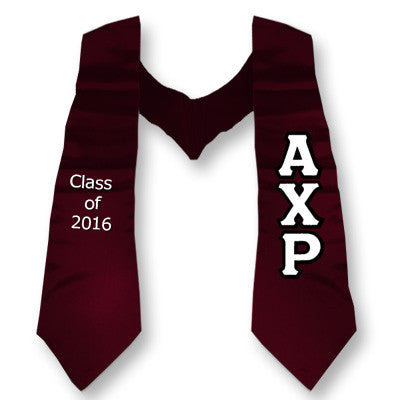 Alpha Chi Rho Graduation Stole with Twill Letters - TWILL