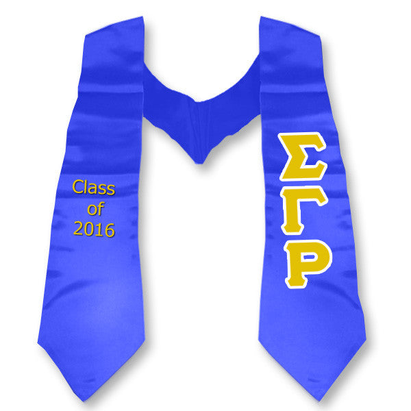 Sigma Gamma Rho Graduation Stole with Twill Letters - TWILL