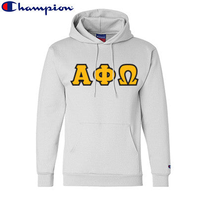 Alpha Phi Omega Champion Hooded Sweatshirt - Champion S700 - TWILL