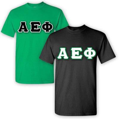 Alpha Epsilon Phi Sorority 2 T-Shirt Pack - G500 - TWILL