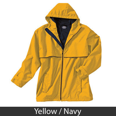 Fraternity New Englander Rain Jacket with Crest - Charles River 9199 - EMB