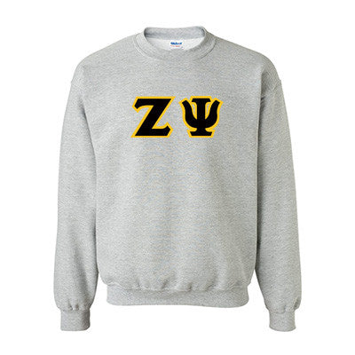 Zeta Psi Fraternity Standards Crewneck Sweatshirt - Gildan 18000 - Twill
