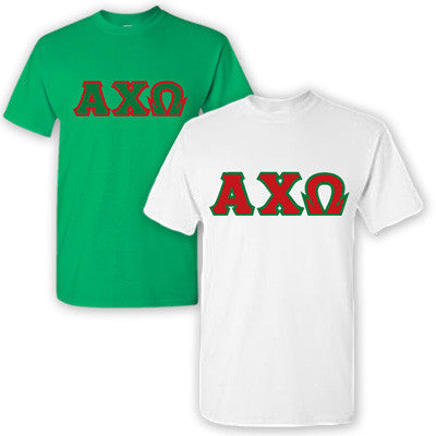 Alpha Chi Omega Sorority 2 T-Shirt Pack - G500 - TWILL