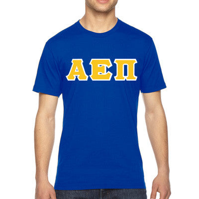 Alpha Epsilon Pi American Apparel Jersey Tee with Twill - American Apparel 2001 - TWILL