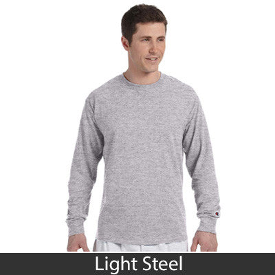Delta Upsilon Greek Champion Long-Sleeve Tee - Champion CC8C - TWILL