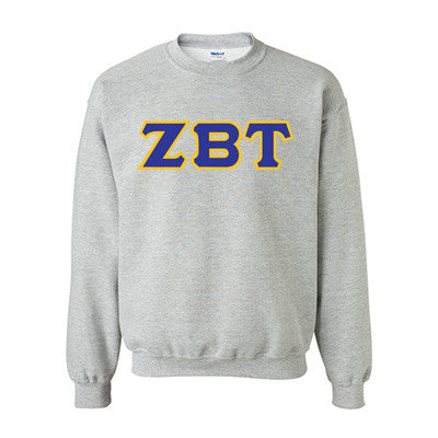Zeta Beta Tau Fraternity Standards Crewneck Sweatshirt - Gildan 18000 - Twill