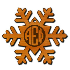Greek Engraved Snowflake Ornament - LZR