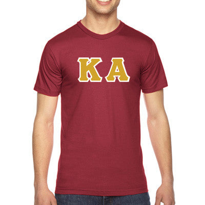 Kappa Alpha American Apparel Jersey Tee with Twill - American Apparel 2001W - TWILL