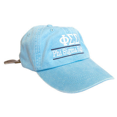 Sorority Pigment-Dyed Embroidered Bar Design Hat - Adams AD969 - EMB