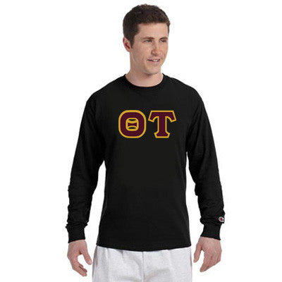 Theta Tau Champion Long-Sleeve Tee - Champion CC8C - TWILL