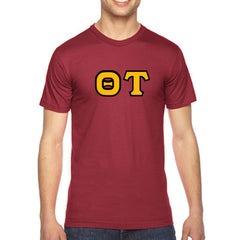 Theta Tau American Apparel Jersey Tee with Twill - American Apparel 2001W - TWILL