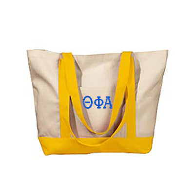 Theta Phi Alpha Sorority Embroidered Boat Tote - Bag Edge BE004 - EMB