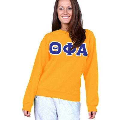Theta Phi Alpha Sorority 8oz Crewneck Sweatshirt - Gildan 18000 - TWILL