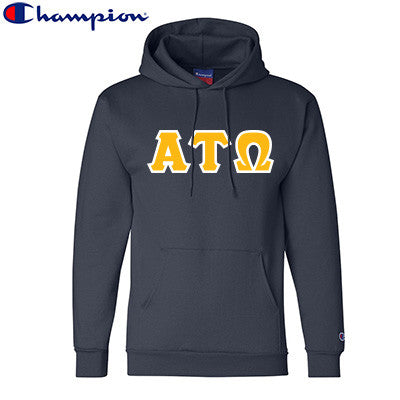 Alpha Tau Omega Champion Hooded Sweatshirt - Champion S700 - TWILL