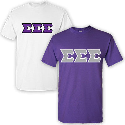 Sigma Sigma Sigma Sorority 2 T-Shirt Pack - G500 - TWILL