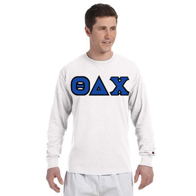 Theta Delta Chi Champion Long-Sleeve Tee - Champion CC8C - TWILL