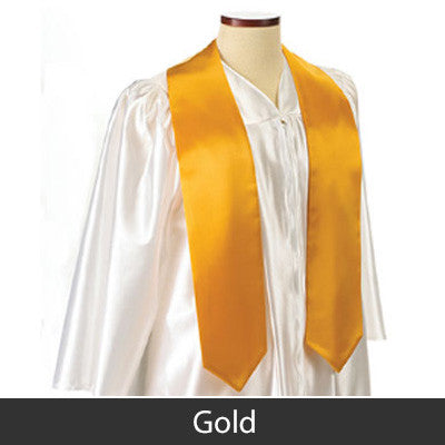 Chi Omega Graduation Stole with Twill Letters - TWILL