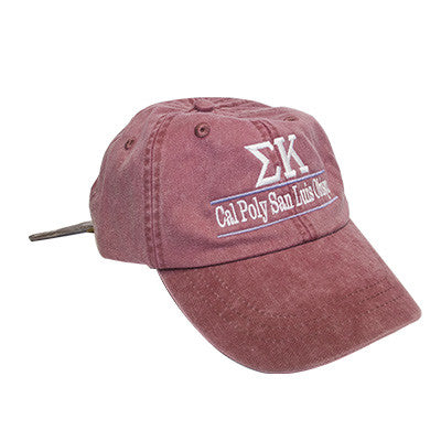 592d38af0f9 Sorority Pigment-Dyed Embroidered Bar Design Hat - Adams AD969 - EMB