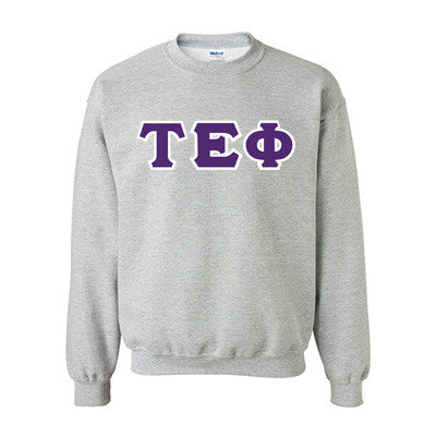 Tau Epsilon Phi Fraternity Standards Crewneck Sweatshirt - Gildan 18000 - Twill
