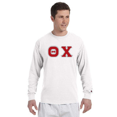 Theta Chi Champion Long-Sleeve Tee - Champion CC8C - TWILL