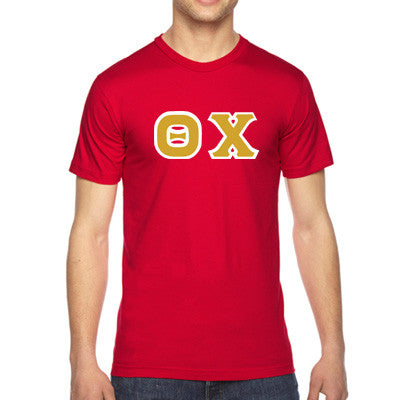 Theta Chi American Apparel Jersey Tee with Twill - American Apparel 2001 - TWILL