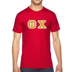 Theta Chi American Apparel Jersey Tee with Twill - American Apparel 2001W - TWILL