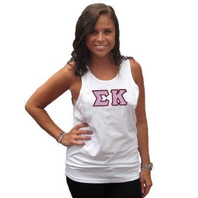 Sigma Kappa Sorority Unisex Tank Top with Twill - Next Level 3633 - TWILL