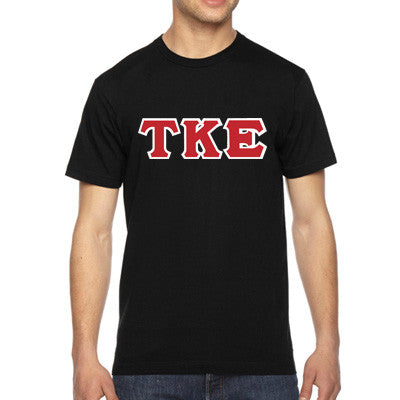 Tau Kappa Epsilon American Apparel Jersey Tee with Twill - American Apparel 2001W - TWILL
