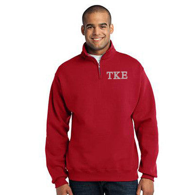 Tau Kappa Epsilon Fraternity Embroidered Quarter-Zip Pullover - Jerzees 995M - EMB