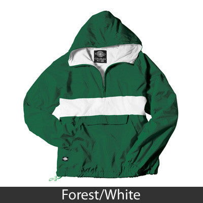Fraternity Striped Pullover Jacket with 2-Color Embroidery - Charles River 9908 - EMB
