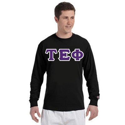 Tau Epsilon Phi Champion Long-Sleeve Tee - Champion CC8C - TWILL