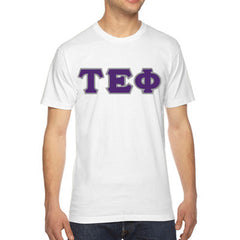 Tau Epsilon Phi American Apparel Jersey Tee with Twill - American Apparel 2001W - TWILL