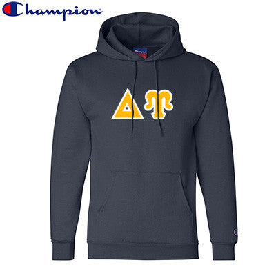 Delta Upsilon Champion Hooded Sweatshirt - Champion S700 - TWILL