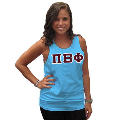 Pi Beta Phi Sorority Unisex Tank Top with Twill - Next Level 3633 - TWILL