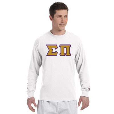 Sigma Pi Champion Long-Sleeve Tee - Champion CC8C - TWILL
