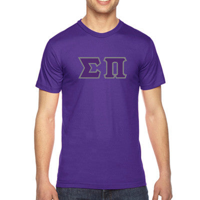 Sigma Pi American Apparel Jersey Tee with Twill - American Apparel 2001W - TWILL