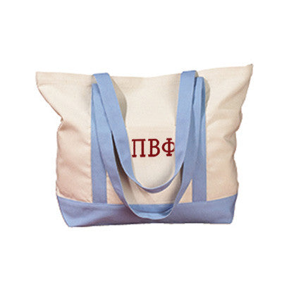 Pi Beta Phi Sorority Embroidered Boat Tote - Bag Edge BE004 - EMB