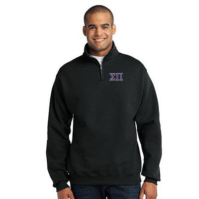 Sigma Pi Fraternity Embroidered Quarter-Zip Pullover - Jerzees 995M - EMB