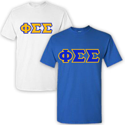 Phi Sigma Sigma Sorority 2 T-Shirt Pack - G500 - TWILL