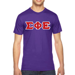 Sigma Phi Epsilon American Apparel Jersey Tee with Twill - American Apparel 2001W - TWILL