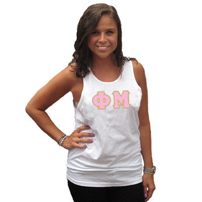 Phi Mu Sorority Unisex Tank Top with Twill - Next Level 3633 - TWILL
