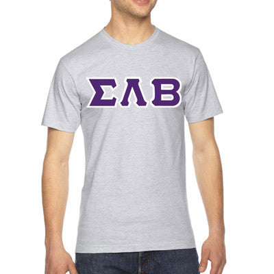 Sigma Lambda Beta American Apparel Jersey Tee with Twill - American Apparel 2001W - TWILL