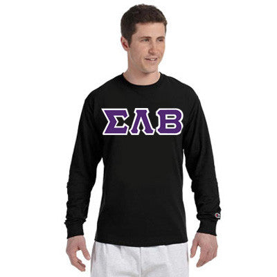 Sigma Lambda Beta Champion Long-Sleeve Tee - Champion CC8C - TWILL