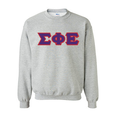 Sigma Phi Epsilon Fraternity Standards Crewneck Sweatshirt - Gildan 18000 - Twill