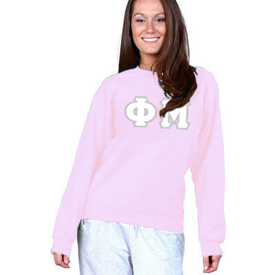 Phi Mu Sorority 8oz Crewneck Sweatshirt - Gildan 18000 - TWILL