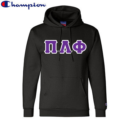 Pi Lambda Phi Champion Hooded Sweatshirt - Champion S700 - TWILL