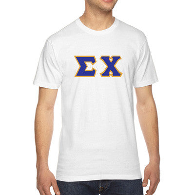 Sigma Chi American Apparel Jersey Tee with Twill - American Apparel 2001W - TWILL