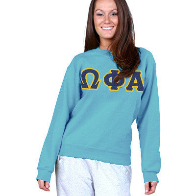 Omega Phi Alpha Sorority 8oz Crewneck Sweatshirt - Gildan 18000 - TWILL