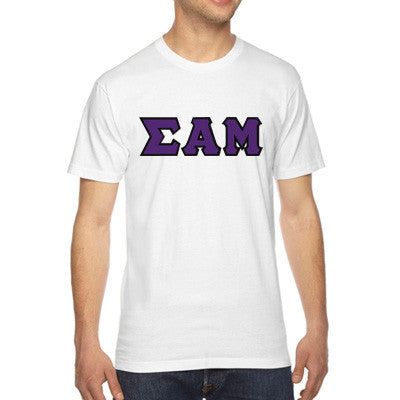 Sigma Alpha Mu American Apparel Jersey Tee with Twill - American Apparel 2001 - TWILL